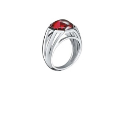 Baccarat L'Illustre Small Red Mirror Crystal & Silver Ring 2611879