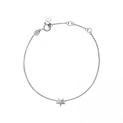 Links of London - Diamond Essentials Sterling Silver & White Pave Star Bracelet