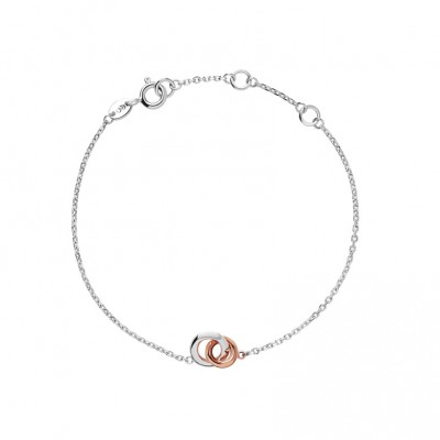 Links of London 20/20 Sterling Silver & 18kt Rose Gold Mini Bracelet 5010.3177