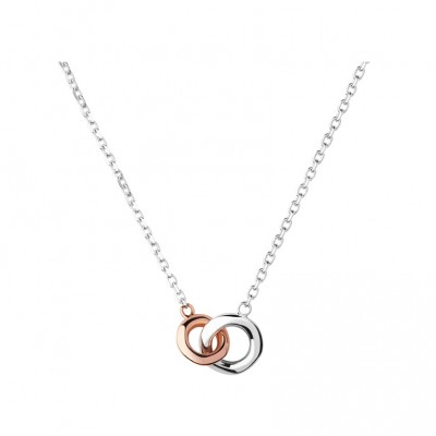 Links of London - 20/20 Sterling Silver & 18kt Rose Gold Mini Necklace 5020.2954