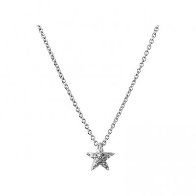 Links of London - Diamond Essentials Sterling Silver & White Pave Star Necklace