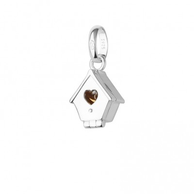 Links of London - Sterling Silver & 18kt Gold Vermeil Bird House Charm