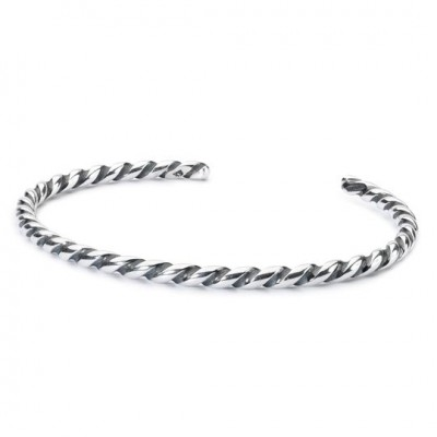 Trollbeads - Twisted Silver Bangle (Small) TAGBA-00008