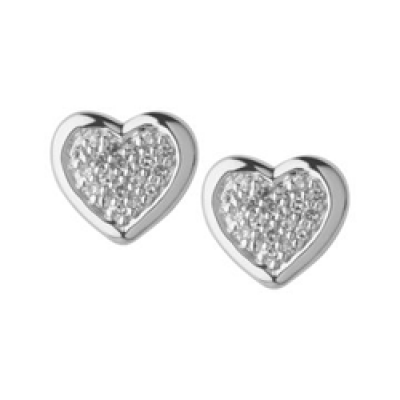 Links of London Diamond Essential Heart Stud Earrings 5040.2330