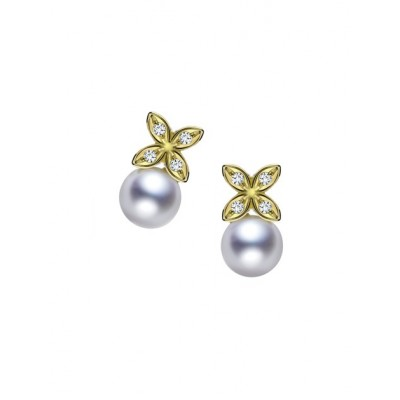 Mikimoto - Clover Earrings Yellow Gold