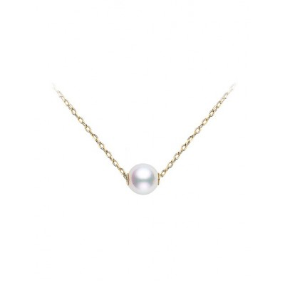 Mikimoto Pearl Pendant in Yellow Gold
