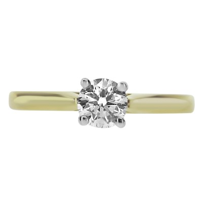 Diamond Round Brilliant Cut Solitaire Ring (GIA Certified)