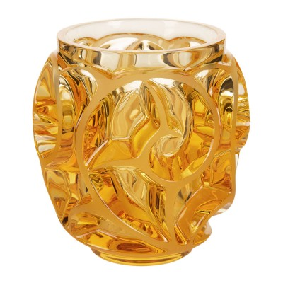Lalique - Tourbillons Vase, Small Amber