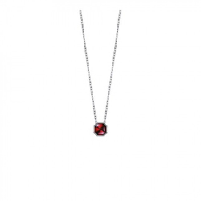Baccarat L'Illustre Small Red Mirror Crystal & Silver Necklace 2611922