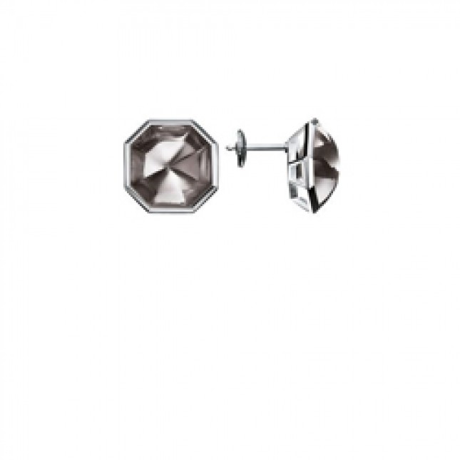 Baccarat L'Illustre Mist Mirror Crystal & Silver Stud Earrings 2611980