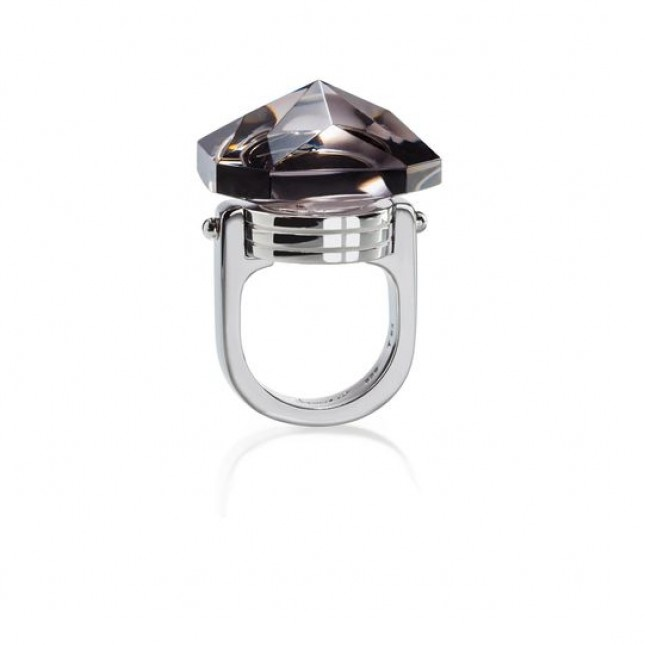 Baccarat Crystal And Silver Bouchon De Carafe Ring 2801226
