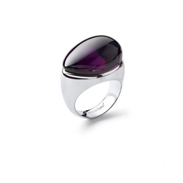 Baccarat Galea Purple Crystal Ring 2805629