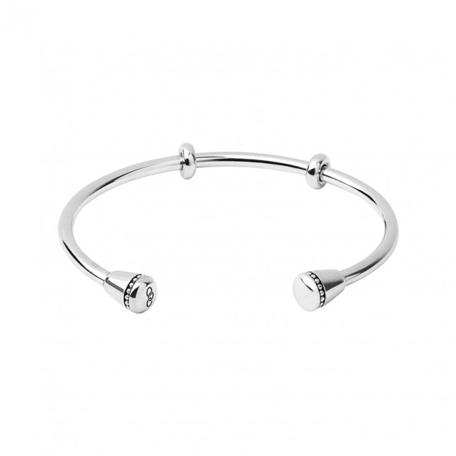 Links of London - Narrative Sterling Silver Charm Cuff (Medium) 5010.3344