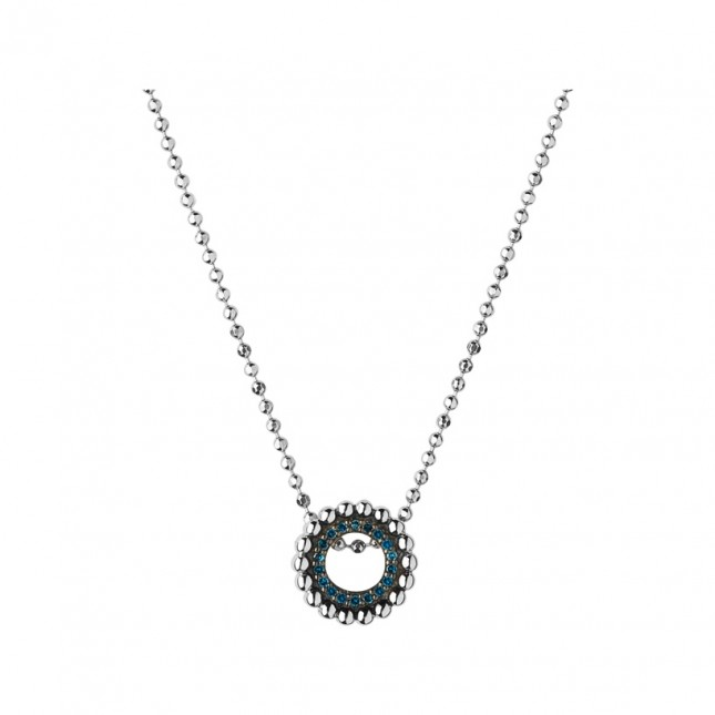Links of London Effervescence Sterling Silver & Blue Diamond Mini Necklace 5020.2996