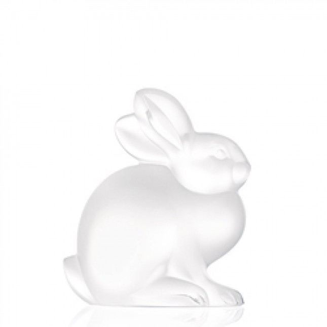 Lalique - Sitting Rabbit Sculpture