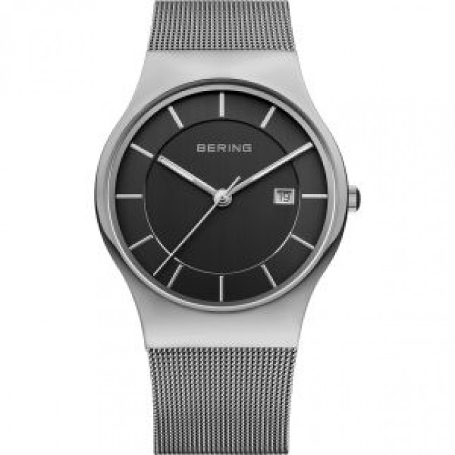 BERING CLASSIC COLLECTION MEN'S WATCH MILANESE SILVER
