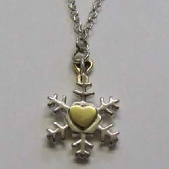Molly Brown sterling silver Snow White necklace.