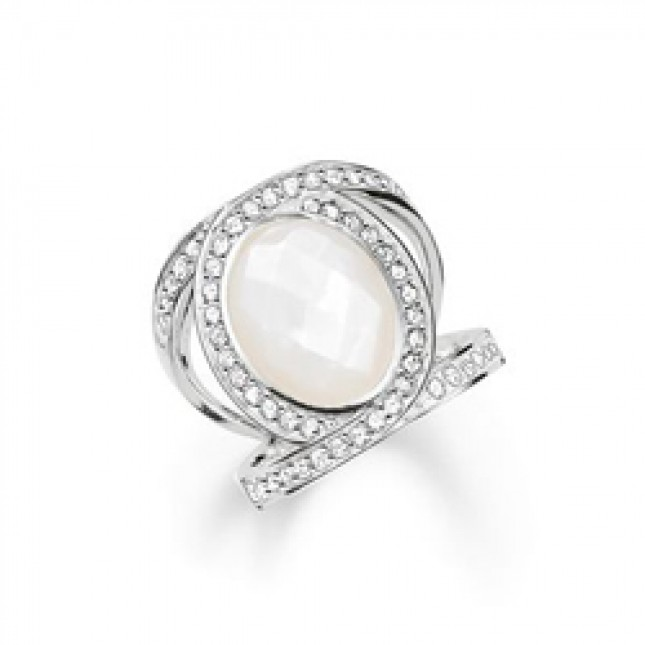 Thomas Sabo Sterling Silver Glam & Soul Ring TR2015-030-14-54
