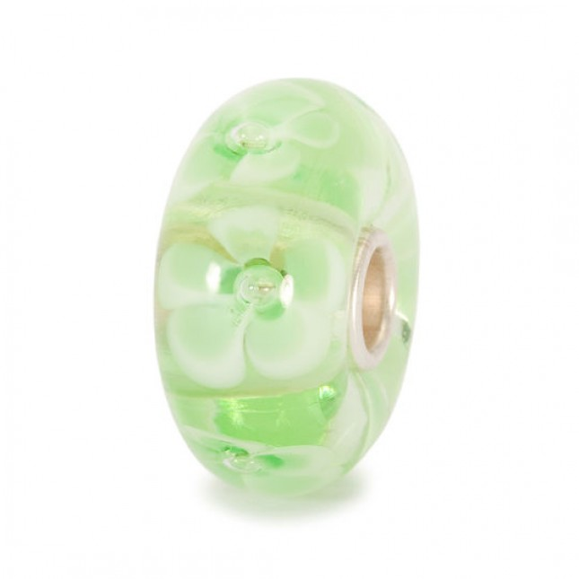 Trollbeads - Light Green Flower. TGLBE-10097