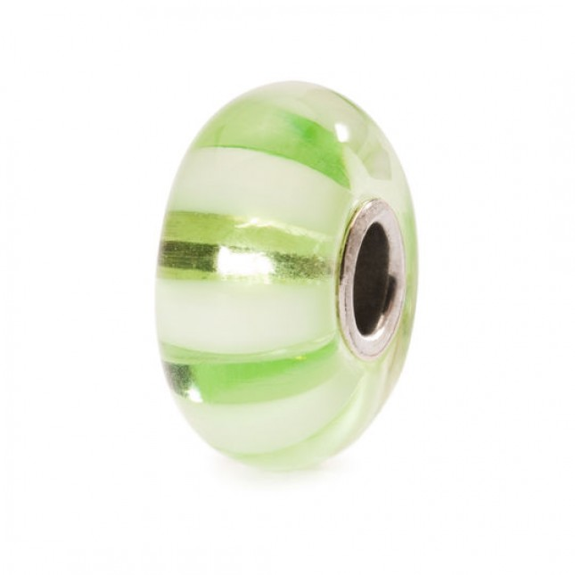 Trollbeads - Light Green Stripe. TGLBE-10246