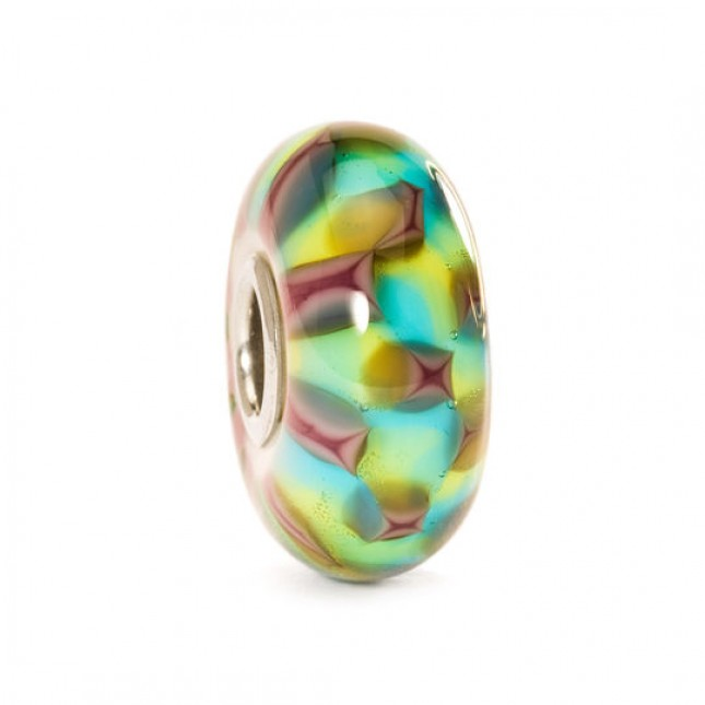Trollbeads - Turquoise/Purple Chess.  TGLBE-10242