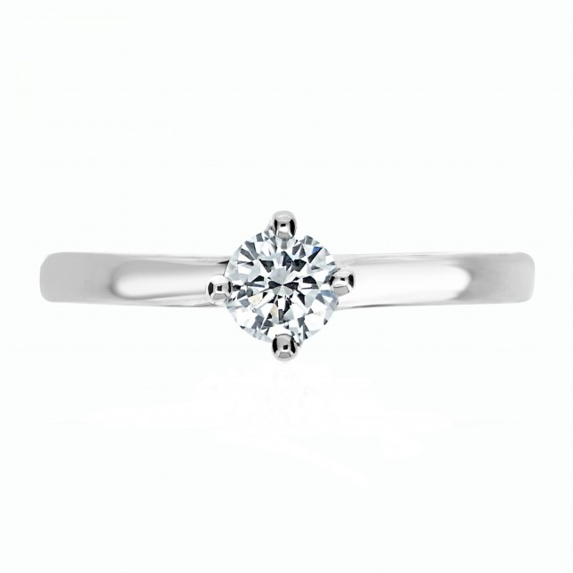 DIAMOND ROUND BRILLIANT CUT TWIST SOLITAIRE RING (GIA CERTIFIED)