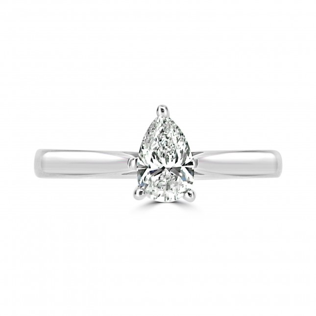 Diamond Pear Shape Solitaire Ring (GIA Certified)