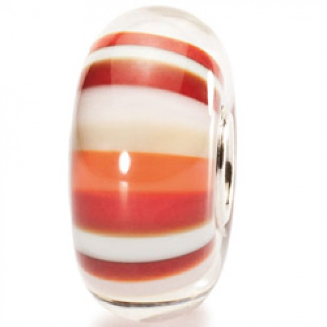 Trollbeads - Strawberry Stripes. TGLBE-10153