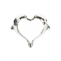Trollbeads - Dolphin's Heart. TAGPE-00019