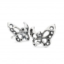 Trollbeads - Dancing Butterfly Stud Earrings. TAGEA-00086