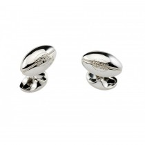 Deakin & Francis - Sterling Silver Rugby Ball Cufflinks
