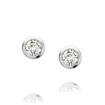 18ct White Gold & Diamond Stud Earrings
