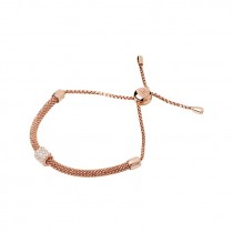 Links of London - Starlight 18kt Rose Gold Vermeil & Sapphire Bead Bracelet 5010.3424