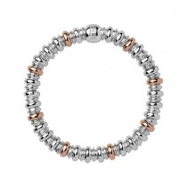 Links of London - Sweetheart Sterling Silver & 18kt Rose Gold Vermeil Bracelet 5010.3458