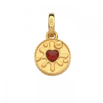 Links of London - 18kt Yellow Gold Vermeil & Garnet Jam Ring Charm