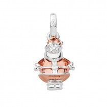 Links of London - Sterling Silver & 18kt Rose Gold Vermeil Santa Claus Bauble Charm