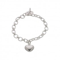 Links Of London Sterling Silver Heart Charm Bracelet 5032.0124