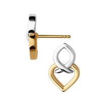 Links of London - Infinite Love Sterling Silver & 18kt Yellow Gold Vermeil Earrings 5040.2820