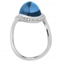 Links of London Infinite Love Blue Topaz Ring 5045.4063