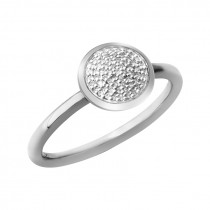 Links of London - Diamond Essentials Sterling Silver & Pave Round Ring 5045.5483