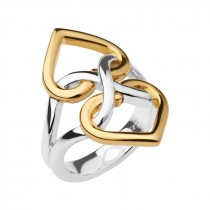 Links of London - Infinite Love Sterling Silver & 18kt Yellow Gold Vermeil Ring 5045.6522