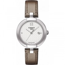Tissot Pinky T0842101601701 Ladies Watch Taupe Grey Leather Strap