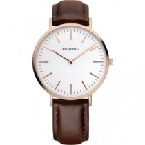 BERING CLASSIC COLLECTION UNISEX WATCH CALFSKIN BROWN