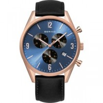 BERING  CLASSIC COLLECTION MEN'S WATCH CALFSKIN BLACK