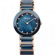 BERING  CERAMIC COLLECTION WOMEN'S WATCH STAINLESS STEEL ROSE GOLD