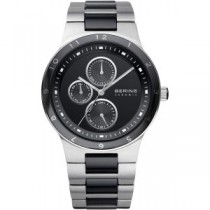 BERING CERAMIC COLLECTION MEN'S WATCH STAINLESS STEEL SILVER