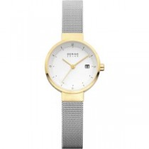 BERING  SOLAR COLLECTION WOMEN'S WATCH MILANESE SILVER