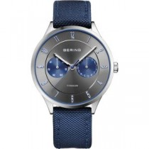 BERING TITANIUM COLLECTION MEN'S WATCH NYLON BLUE