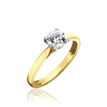 Yellow Gold Single Stone Ring