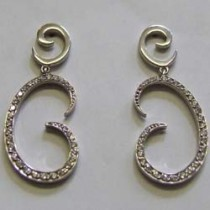 18ct white gold and diamond Carina drop earrings.